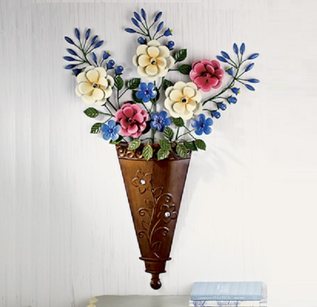 Metal Floral Bouquet 3D Wall Decor